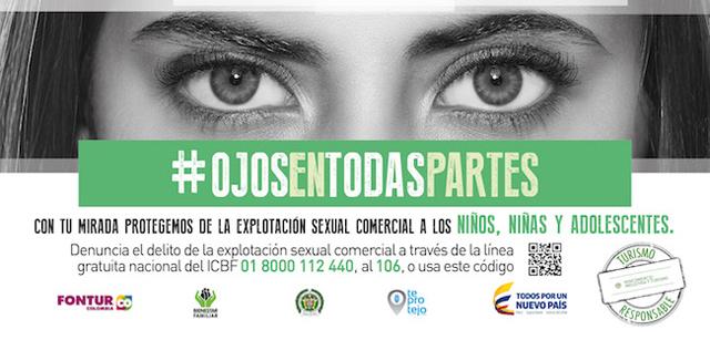 #OjosEnTodasPartes, contra la explotación sexual infantil ...