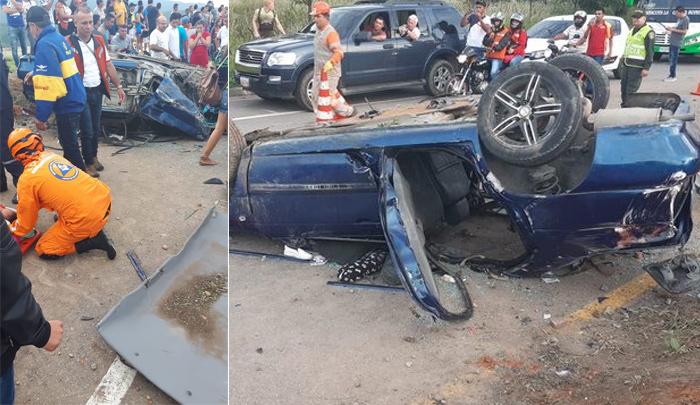 Varios heridos al volcarse carro en Los Patios - La Opinión Cúcuta